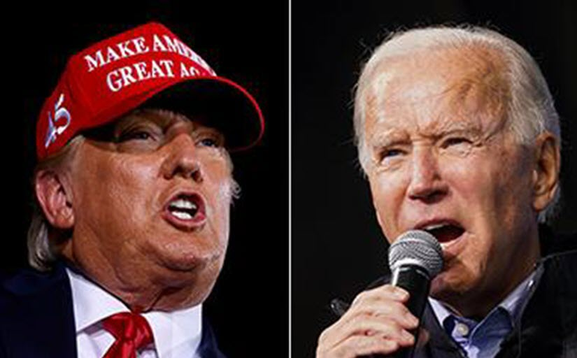 Biden has slim lead over Trump in six key states before election day