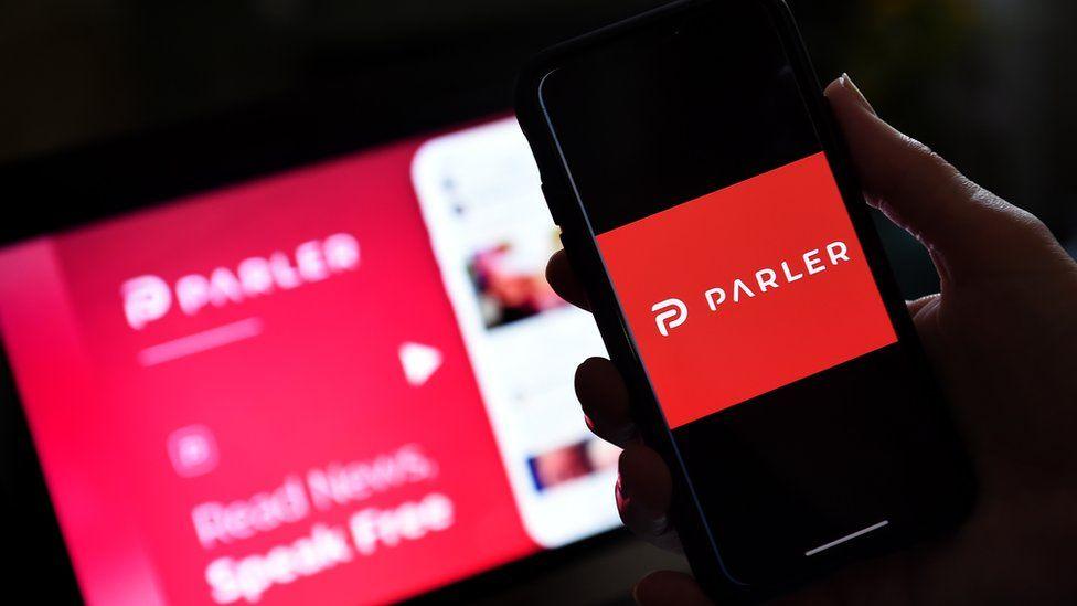 US right-wing social media app Parler is suspended by Google