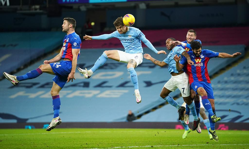 Stones scores twice as Manchester City demolishes Crystal Palace 4-0