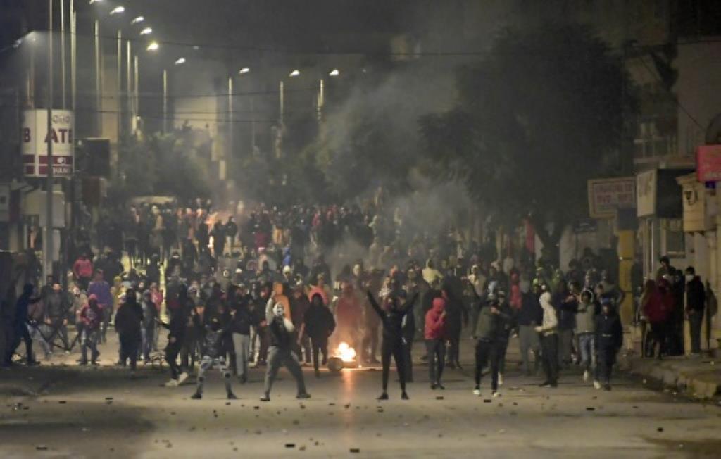 Tunis: Ana Ci Gaba Da Tashe-Tashe Hankula A Tsakanin 'Yansanda Da Masu Zanga-Zanga