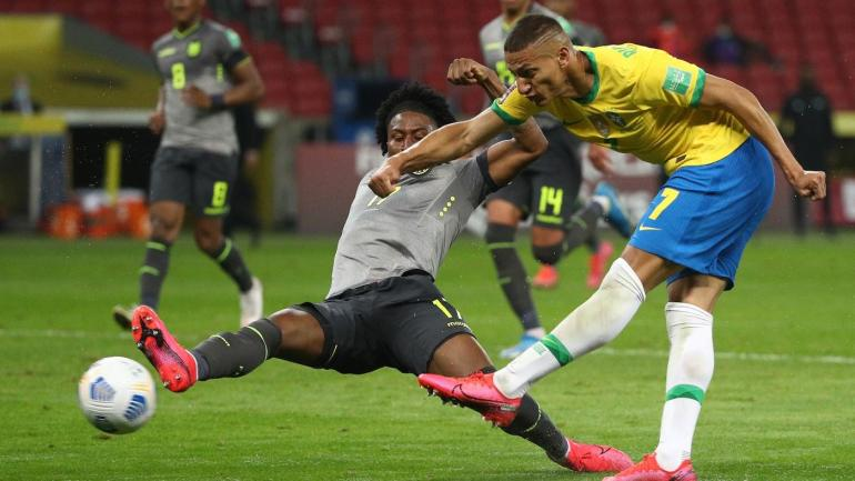 Brazil beats Ecuador 2-0 to maintain perfect record in World Cup qualifying
