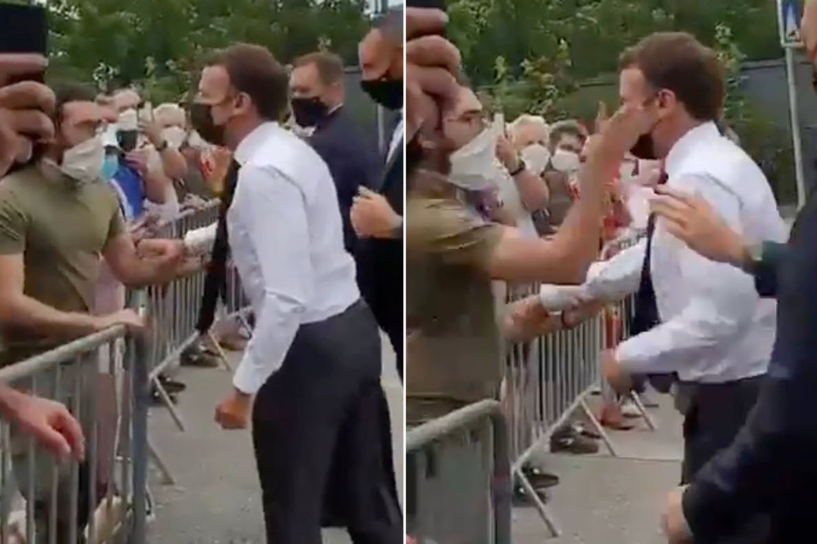 Macron slapped in face during trip to southern France