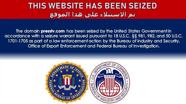 Domain of Iran's PressTV seized by US government